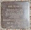 Stolperstein Winckelmannstraße 25 (Maximilian Rothschild) in Hamburg-Nienstedten.JPG