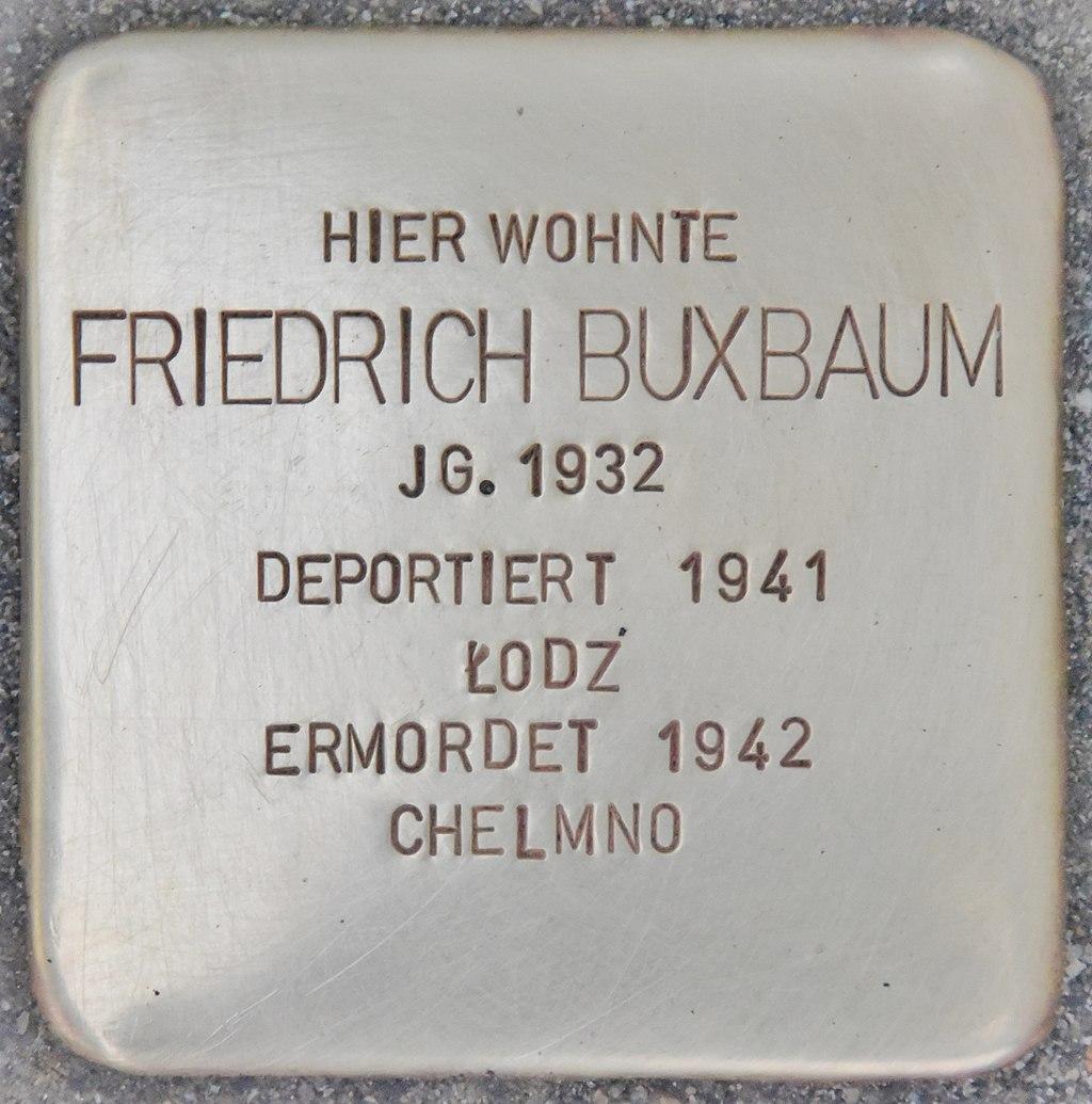 Stolperstein für Friedrich Buxbaum (Wiener Neustadt).jpg