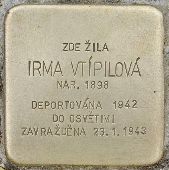 File:Stolperstein für Irma Vtipilova (Chrudim).jpg