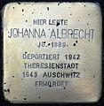 Stolpersteine Köln, Johanna Albrecht (St.-Apern-Str. 29-31).jpg