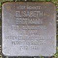 Stolpersteine Krefeld, Elisabeth Erdtmann (Uerdinger Straße 1).jpg