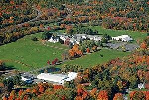 Stoneleigh-Burnham School - Image: Stoneleigh Burnham School campus aerial