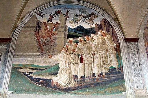 Luca Signorelli, L e storie di San Benedetto, Come Dio punisce Florenzo