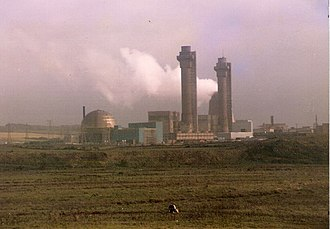 Sellafield - The Windscale Piles (centre and right)
