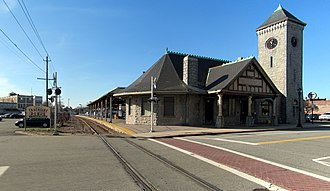 Stoughton station - 1888-built Stoughton station building in 2016