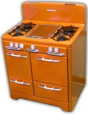 English: Modern reproduction of a 1953 stove i...