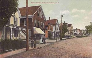 Woodstock, New Hampshire - Image: Street Scene, North Woodstock, NH