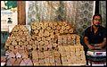 Street vendor of sweets, mithai Rajasthan India 2012.jpg