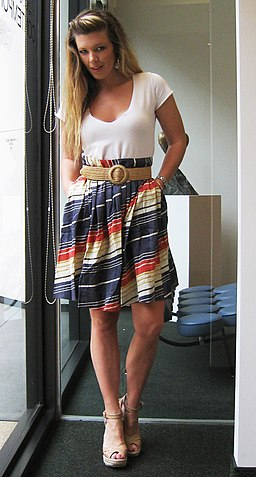 Striped skirt jimmy choos 3