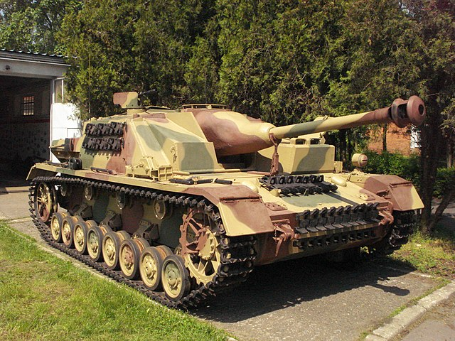 Front view of a Sturmgeschütz IV