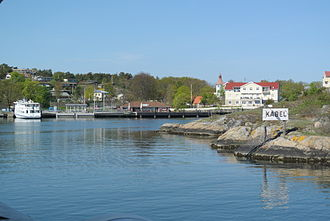 Archipelago of Gothenburg - The island of Styrsö, in the archipelago of Gothenburg, as seen from the sea.