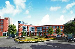 Suburban Hospital - Rendering of new building; one component of the Campus Enhancement Plan.