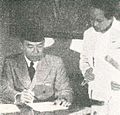 Sukarno working, Impressions of the Fight ... in Indonesia, p4.jpg