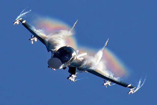 Sukhoi Su-34 flight display at 2015 MAKS