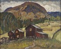 Summer Landscape with Shielings. Study from North Norway (Anna Boberg) - Nationalmuseum - 21331.tif