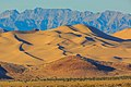Sundown on the Dumont Dunes from the SW - near Shoshone, California (13843431043).jpg