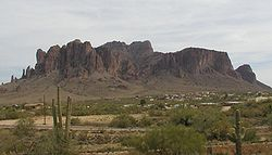 Superstition Mountain east of Apache Junction