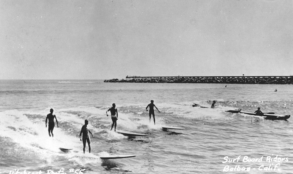 Surfing, Corona Del Mar, circa 1950s