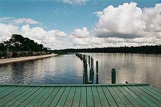 Suriname River - Image: Surinamerivier stroomafwaarts