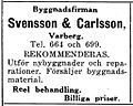 Svensson & Carlsson, annons 1927.jpg