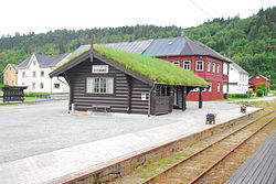 View of the train station in the village