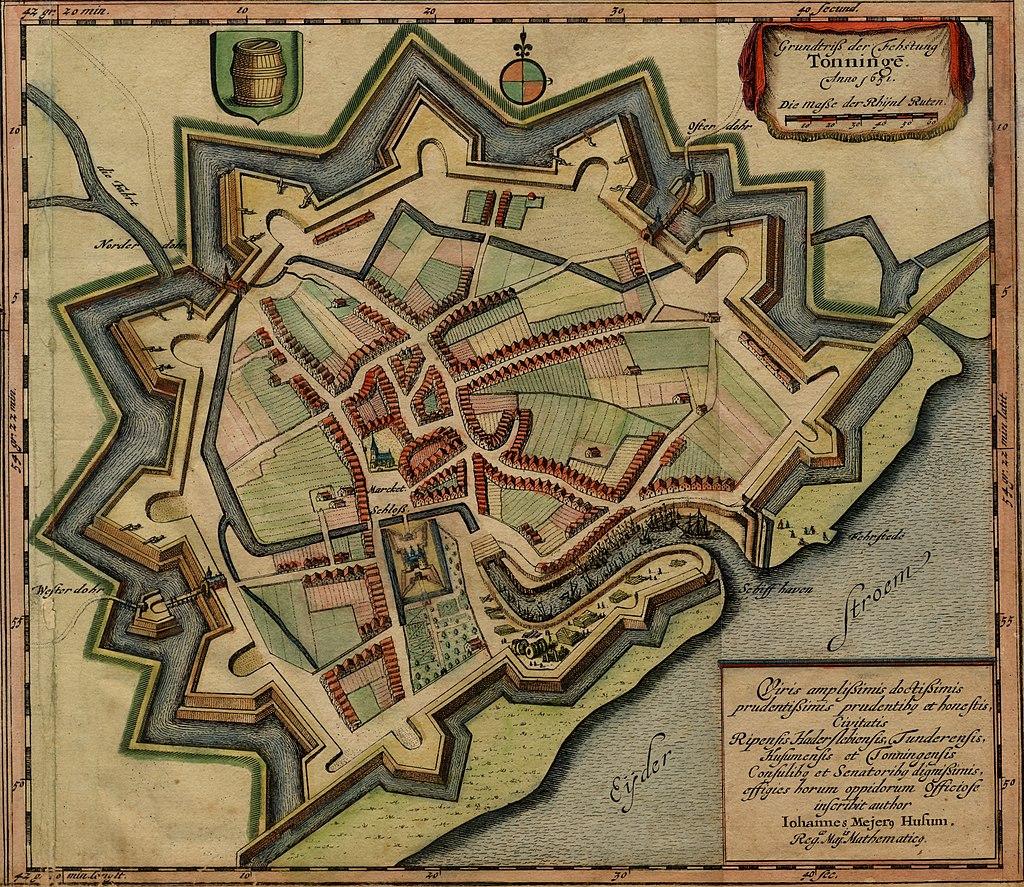 Крепость Тённинг в 1651 году