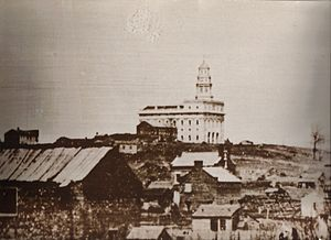 Mormon Trail - Daguerreotype of Nauvoo as it appeared at the time of the Mormon exodus.