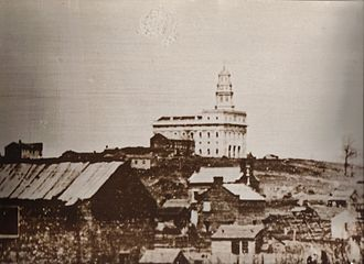 History of Nauvoo, Illinois - Daguerreotype of the city as it appeared at the time of the Mormon exodus
