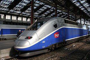 TGV Duplex on the Gare de Lyon (Paris)