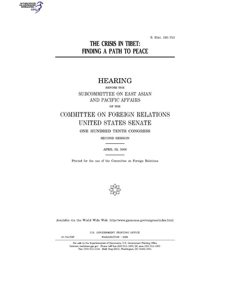 File:THE CRISIS IN TIBET- FINDING A PATH TO PEACE (IA gov.gpo.fdsys.CHRG-110shrg47764).pdf