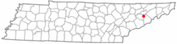 Location of Baneberry, Tennessee