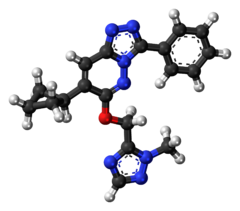 Ball-and-stick model of the TP-13 molecule