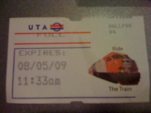 Example of a TRAX ticket