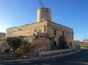Windmill Redoubt - Bir Għeliem Windmill, around which the redoubt was built