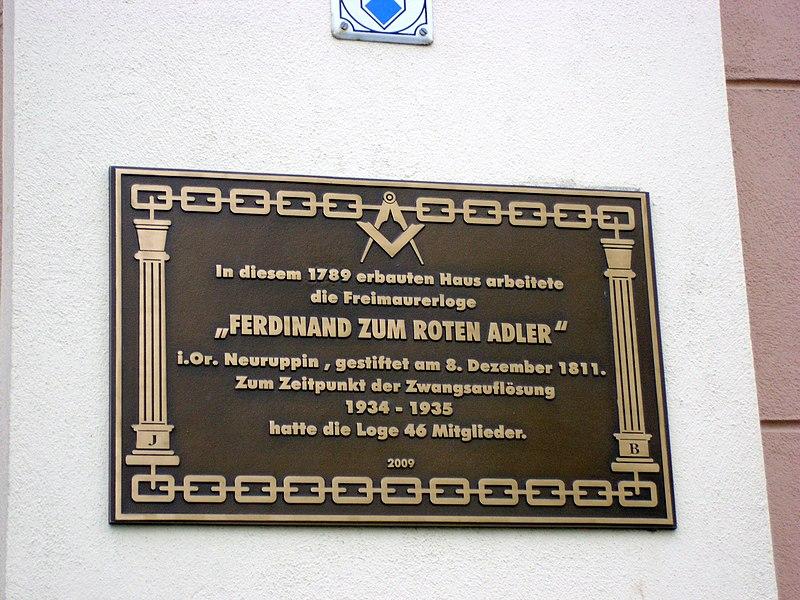 File:Tafel Freimaurerloge Ferdinand zum Roten Adler.JPG