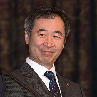 Takaaki Kajita - Takaaki Kajita, Nobel Laureate in physics in Stockholm December 2015