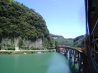 Takachiho Railway - Bridge on Gokase River