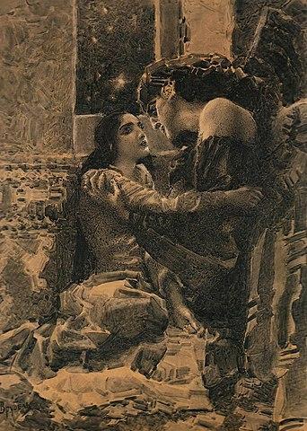 Тамара и Демон. Иллюстрация к поэме М.Ю.Лермонтова, 1890