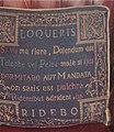 Tapestry seat cushion in Kildrummy inn - geograph.org.uk - 254744.jpg