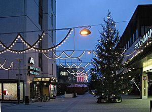 Tapiola - The Tapiola commercial centre at Christmas time