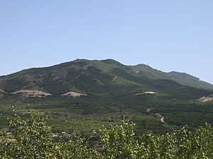 Tbilisi National Park - Mountains in the western part of Tbilisi National Park, as seen from the north of Mtskheta