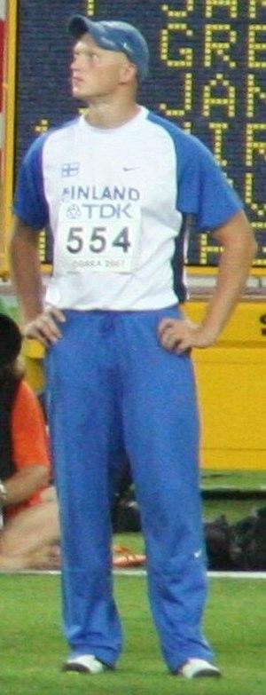 2003 European Athletics Junior Championships - Teemu Wirkkala took the host's sole gold in the javelin