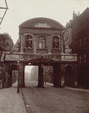 Temple Bar, London - Temple Bar Gate in 1878