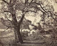 Temple on the Bhimtal Lake, Bhimtal, 1864.jpg