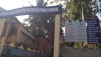 Ten Commandments - A Christian school in India displays the Ten Commandments