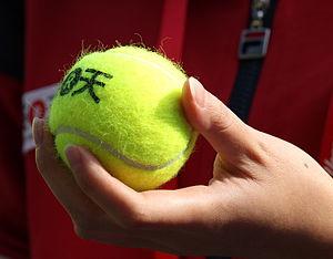 Tennis ball - Tennis ball at the 2011 Rakuten Japan Open Tennis Championships