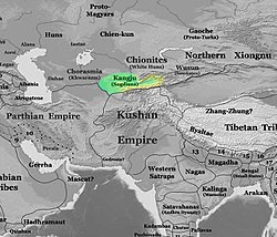The approximate territory of the Kangju c. 200 CE.