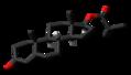 Testosterone isobutyrate molecule skeletal.png
