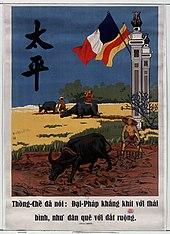 Thong-Che Dja Noi - Đại-Pháp Khang KHIT Voi di Thai Binh, Như Dân Quê VOI Djat ruộng [Thong-che ha detto: Dai-France si aggrappa alla pace, come i contadini con le terre]