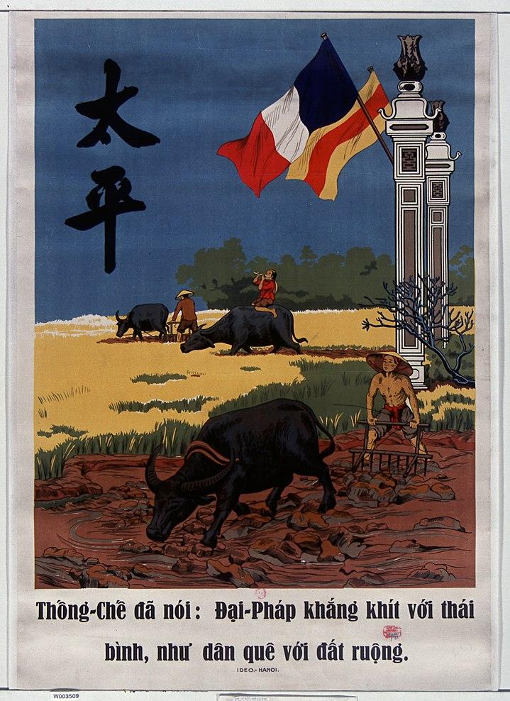 Thống-Chế đã nói - Đại-Pháp khắng khít với thái bình, như dân quê với đất ruộng